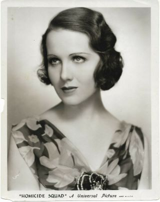 """1931 Universal Picture Publicity Photo Mary Brian From """" Homicide Squad """" Movie"""