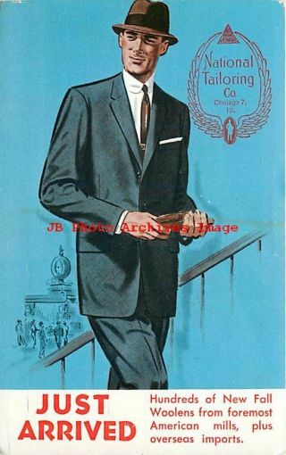 Advertising Postcard,  National Tailoring Co,  Fall Line,  Chicago,  Illinois