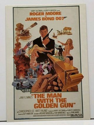 Roger Moore James Bond 007 The Man With The Golden Gun Movie Poster Postcard G20