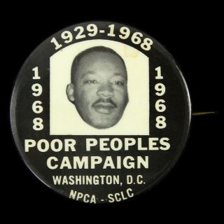 """1968 Martin Luther King Jr.  """" Poor People"""