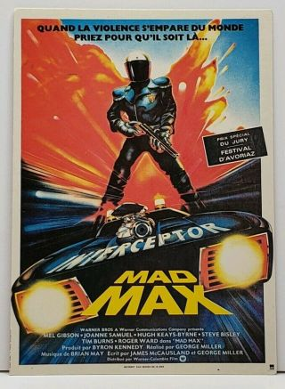 Mad Max Mel Gibson Movie Poster Postcard G19