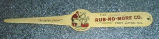 Rare Old Celluloid Letter Opener Advertising Rub No More Washing Powder Soap