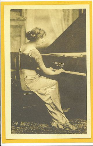 Advertising Postcard Myrtle Elvyn Kimball Piano Chicago