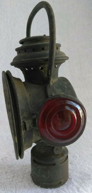 Vintage Neverout Safety Kerosene Bicycle Lamp Hanging Oil Torch Insulated Light
