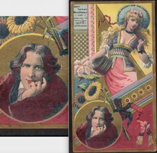 Oscar Wilde 1880s Neilsons Secret Mm Marie Fontaine Freckle Cure Buffalo Ny Card