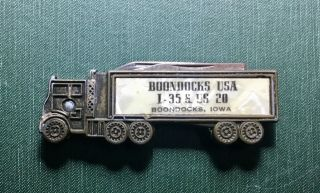 Boondocks Usa Boondocks Iowa Antique Ia Truck Shaped Advertising Pocket Knife