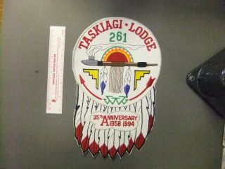 Boy Scout Oa 261 Taskiagi Lodge Jacket Patch Cb 8053gg