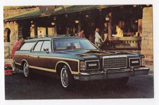 1977 Ford Ltd Country Squire Wagon Ford Advertising Postcard