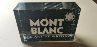 Mont Blanc The Art Of Writing Desk Countertop Display Pen Advertising Sign