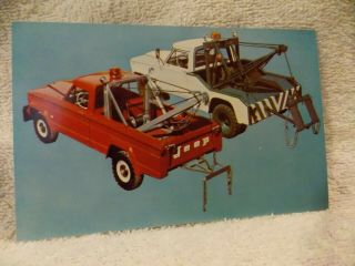 Vintage Collectible Advertising Postcard Jeep Wreckers - Approved Jeep Equipment