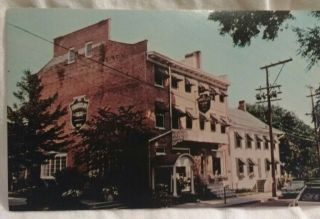 Tunnicliff Inn Cooperstown Hotel Ny Exterior View Advertising Postcard Vtg
