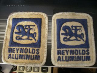 Old Vintage Reynolds Metals Aluminum Advertising Patches