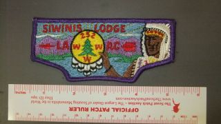 Boy Scout Oa 252 Siwinis First Flap 2168ii