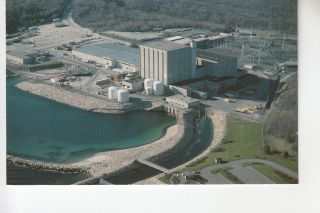 Aerial View Pilgrim Nuclear Power Station Plymouth Ma