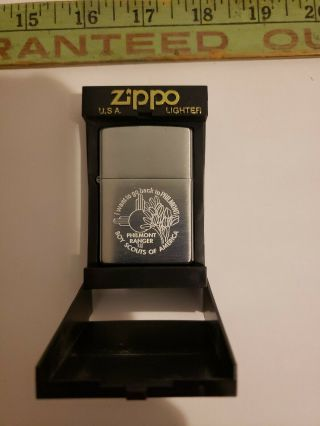 Philmont Ranger Zippo Lighter,  Brushed Chrome In Color.