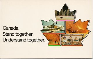 Canada Patriotic Stand Together Understand Together Advertising Postcard F18