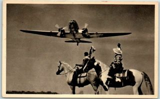 """Vintage American Airlines Advertising Postcard """" Southwester Passage """" C1940s"""