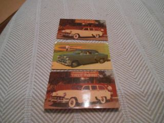 3 Vintage 1954 Chevrolet One - Fifty Advertising Auto Postcard