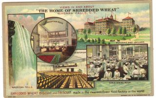 Shredded Wheat Advertising Old Post Card 5/10 1fix