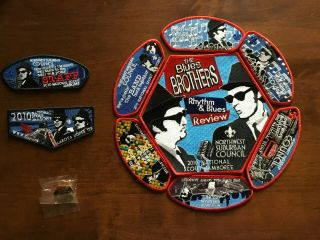 """Bsa Nsj 2010 Northwest Suburban Council Patch And Pin Set """" Blues Brothers """""""