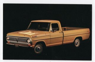 1970 Ford F100 Pickup Truck Ford Advertising Postcard
