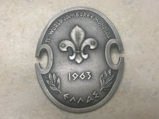 "1963 World Jamboree Aluminum Pin - 1 3/4 "" Tall"