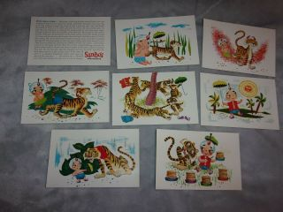 Postcard Set Of 8 Sambo