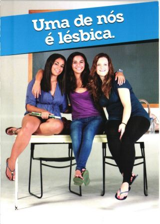 Campaign Against Homophobia - Lesbians Girls Portugal - Gay Advertising Postcard