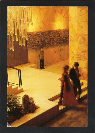 Hong Kong - Lobby Of The Mandarin Hotel.  Advertising Postcard.  P/u 1985.