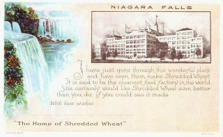 Shredded Wheat Food Factory Niagara Falls York Business Postcard