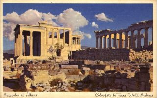 Acropolis At Athens Greece Trans World Airlines Twa Aviation Advertising 1930s