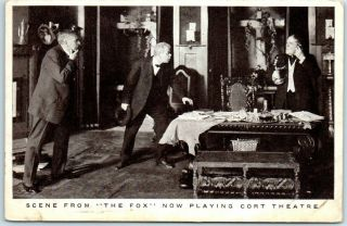 "Vintage Chicago Advertising Postcard "" The Fox "" Play At Cort Theatre 1910s"