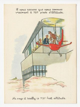 Really At Altitude 737 Restaurant Montreal Quebec Advertising Postcard By Jeff