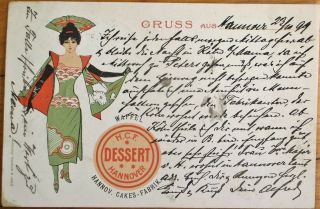 Dessert Cakes 1899 Advertising Postcard: Hcf - Hannover,  Germany - Color Litho