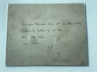 Boy Scout Post Card Signed Baden Powell Dated On 1939