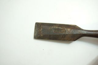 ANTIQUE WOOD CHISEL MARKED STANLEY WITH OLD PATENT INFO 1