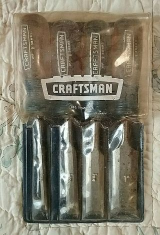 Vintage Sears Craftsman Wood Chisel Set 4 Pc No.  9 - 36866