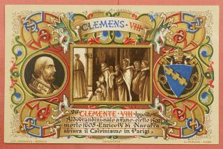 Dr Who Vintage Italy Vatican Postcard Pope Clement Viii 33733