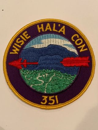 Oa Lodge 351 Wisie Hal'a Con 351r3a Round Patch