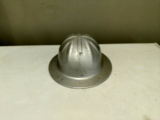 Vintage Bf Mcdonald Aluminum Hard Hat Large With Suspension