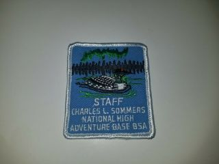 Vintage Boy Scout Patch Bsa Charles L Sommers National High Adventure Staff