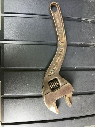 Antique Fordson Tractor No.  80 10 Inch Adjustable Wrench Keystone Mfg Buffalo Ny