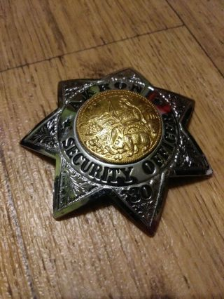 Cool Akron Security Officer Badge 7 Point Star Ed Jones Co Oakland California