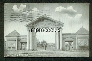 1913 B&w Postcard Syracuse Ny Carriage Gate At N.  Y.  State Fairgrounds