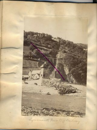 2 X Photos Of Lynmouth Devon From An Album Dated 1879 Large Albumen
