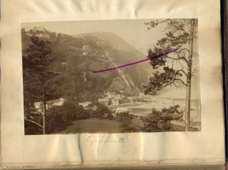 2 x photos of Lynmouth Devon from an album dated 1879 large albumen 2