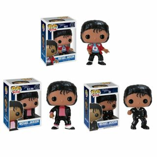Funko Pop Michael Jackson Beat It Billie Jean Bad Vinyl Action Figures
