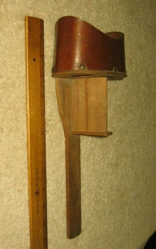 Antique Wooden Wood Vintage Stereoscope Stereoview Viewer Stock Part D