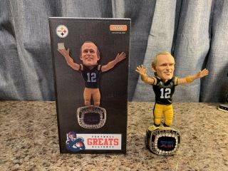 Terry Bradshaw Pittsburgh Steelers Bowl Xiii Champ Ring Nfl Bobblehead Ex