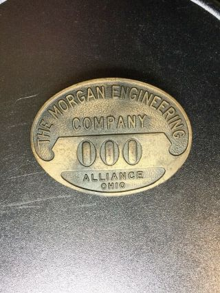 Antique Employee Badge The Morgan Engineering Co Alliance Ohio Whitehead & Hoag